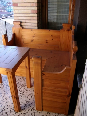 Banco con mesa