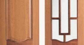 Puerta de interior chapada provenzal invertida