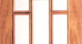 Puerta de interior chapada de medio punto