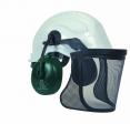 orejeras con casco de seguridad