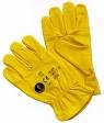 guantes de cuero-flor