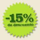 Un 15% de descuento con tu reserva online.