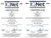 Certif. Calidad y Medioambiente