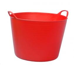 . Capazo de vendimia rojo atóxico 40 l.