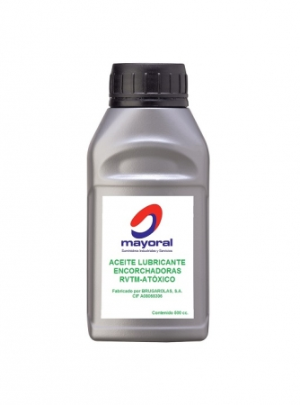 Aceite lubricante atóxico encorchadoras Brugarolas