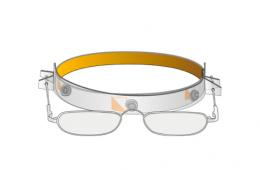 Vapro Halfframe on headband glasses