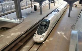 Primer viaje en pruebas del AVE Medina-La Meca