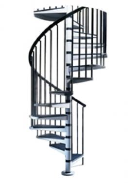 Escalera Caracol Metal Modelo Tecno en Kit(12+1)