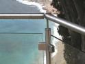 Barandilla de vidrio de pinzas cuadrada