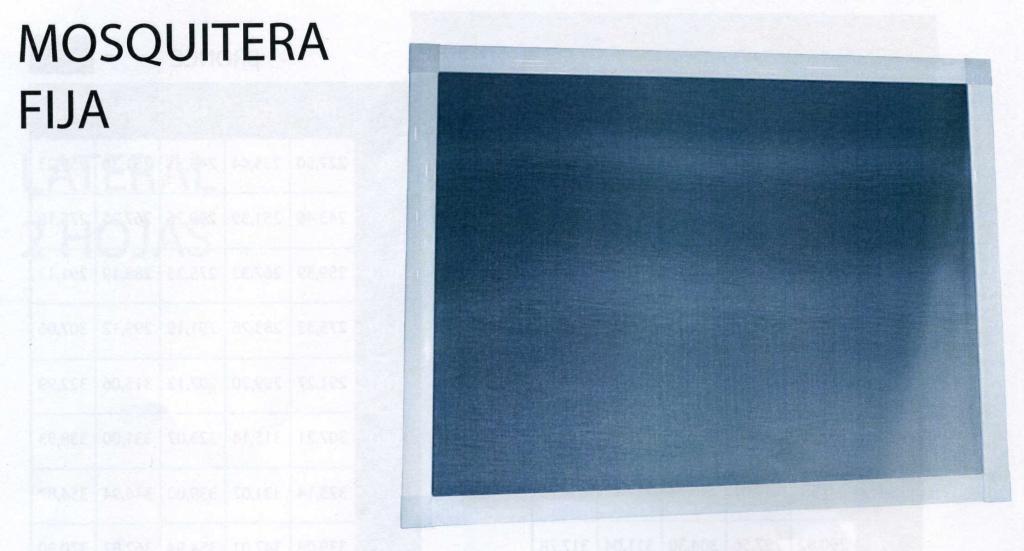 Mosquitera fija y corredera for Mosquitera por metros