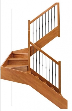 Escalera recta madera Aris
