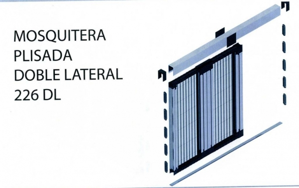 Mosquitera Plisada Doble lateral 226 DL