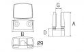 Pinza vidrio CC-708 BA AISI 316