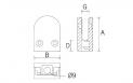 pinza para vidrio CC700 Serie JF Barmet