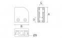 Pinza para vidrio CC-752 L/R BA AISI-316