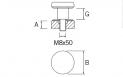 Pinza para vidrio CC-768 BA AISI 316