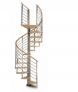Escalera caracol Mod.Inox pasamanos madera Haya 50mm