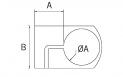 Abrazadera SL 1180 para base de soporte lateral