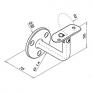 soporte de acero inoxidable para pasamanos Modelo 102 plano