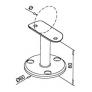 soporte de acero inoxidable para pasamanos Modelo 708 tubo AISI 316 barmet
