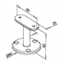 soporte de acero inoxidable para pasamanos Modelo 708 plano superficie plana AISI 304