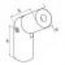 Racor unión variable D42mm, haya,claro bruto barnizada