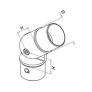 codo regulable de inoxidable para pasamanos de madera D42,4mm barmet q-railing comenza plano