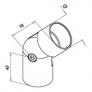 codo regulable de inoxidable para pasamanos de madera D42,4mm barmet q-railing comenza plano 2