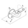 soporte de acero inoxidable para pasamanos AISI 304 q-railing barmet comenza estebro