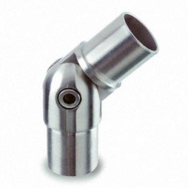 Racor articulado para tubo de D43x1,5mm