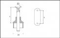 Soporte tubo SA-420 BG-R