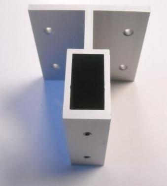 Soporte aluminio pared tubo 40x20