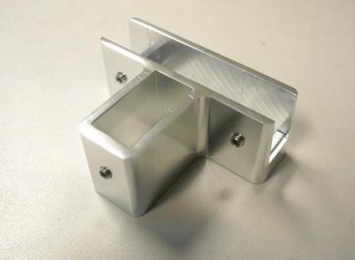 Soporte vidrio fijo tubo 40x20