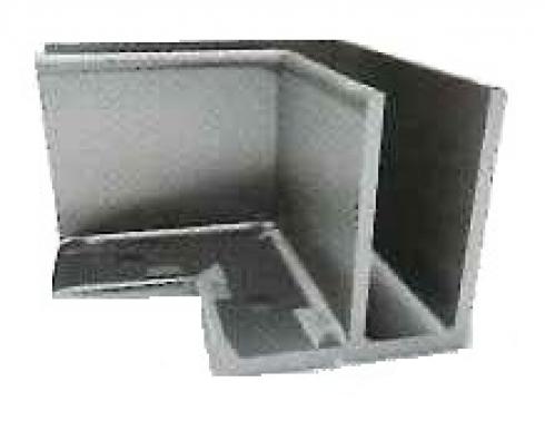 Soporte esquinero Glass U Base fijación interna