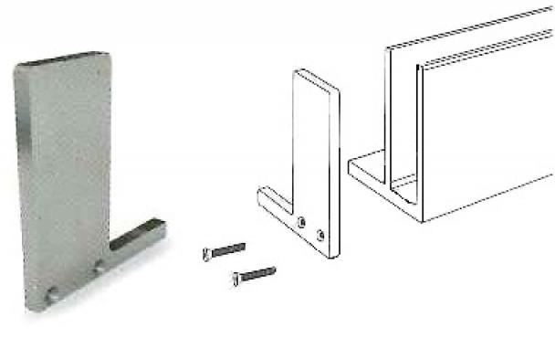 Tapa para perfil de barandilla en U Glass U