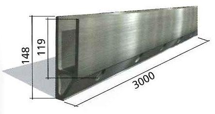 Barandilla de vidrio Glass U lateral