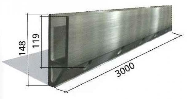 perfil de aluminio en u para barandilla Glass U