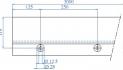 perfil de aluminio en u para barandilla Glass U q-ariling