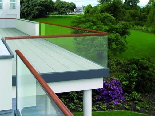perfil de aluminio en u para barandilla Glass U en kit