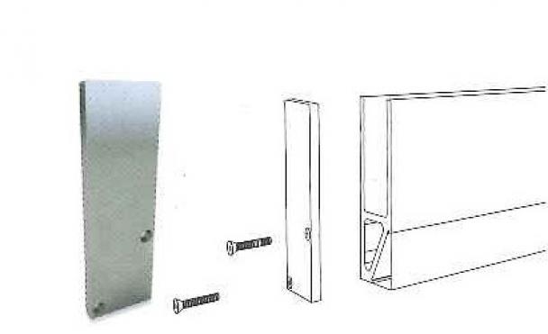 Tapa de cierre lateral Barandilla Glass U