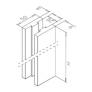 Postes de barandillas Mod 545 aluminio