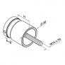 Adaptador vidrio Mod 0747A D50mm Plano-vidrio