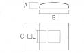 cubierta cuadrado de acero inoxidable 40x40 q-railing Barmet comenza plano