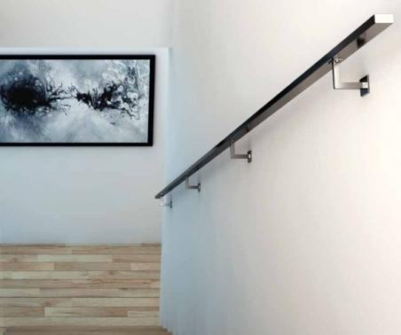 Pasamanos inoxidable cuadrado mod p 1002 en kit - Pasamanos de acero inoxidable para escaleras ...