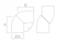 codo ajustable de inoxidable para cambio de sentido del pasamanos Barmet comenza D45mm plano