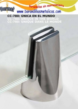 Pinzas para vidrio de acero inoxidable Barmet AISI316 CC-780