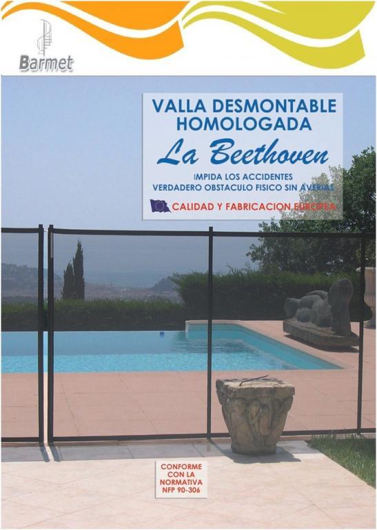 Valla de piscina flexible beethoven for Vallas metalicas para piscinas