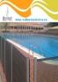 Valla de piscina Beethoven negra postes grises