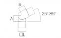 Racor SerieJF cuadrado Barmet SA-433 plano