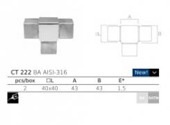 conector en T de acero inoxidable AISI316 Serie jf